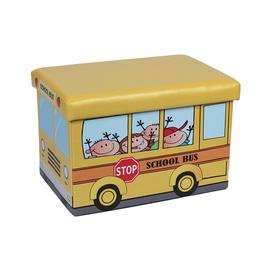 Pufas Autobusas, geltonas, 48 x 32 x 31.5 cm