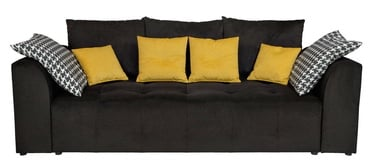 Sofa-lova Black Red White Royal IV Mega Lux 3DL Black, 251 x 122 x 95 cm