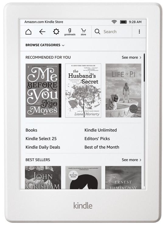 Elektroninė knygų skaityklė Amazon Kindle Touch 8 White, 4 GB