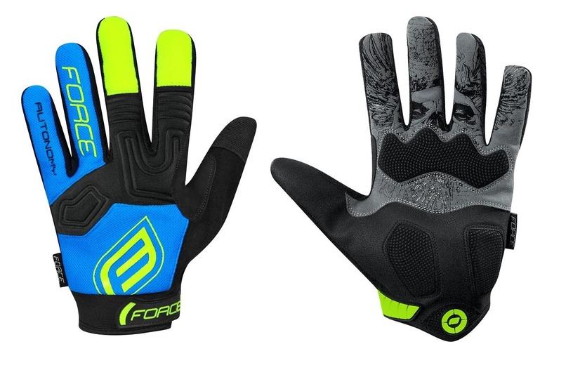 Перчатки Force MTB Autonomy 17 Full Gloves Blue/Black S