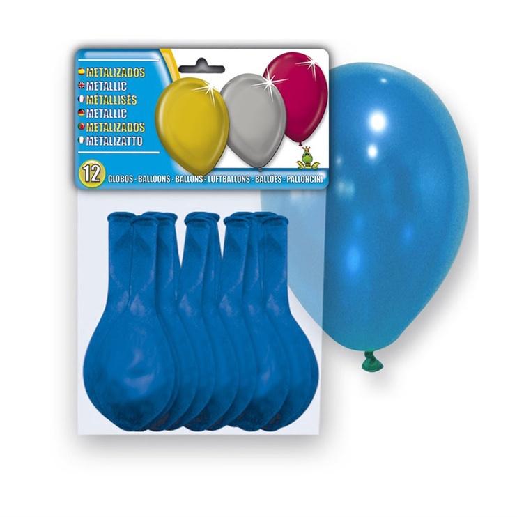 Balionai 5108-54, ovalūs, mėlyni, 12 vnt.