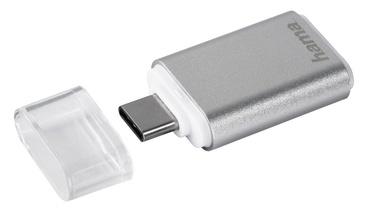 Hama USB 3.1 Type C OTG To MicroSD Card Reader Silver