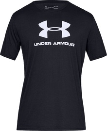Under Armour Sportstyle Logo Tee 1329590-001 Black S