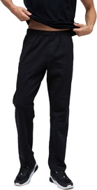 Audimas Stretch Cotton Relaxed Fit Sweatpants Black 200/XL