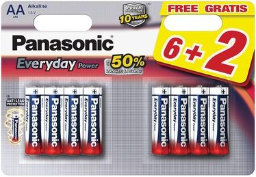 Panasonic LR6EPS Everyday Power 6+2 x AA