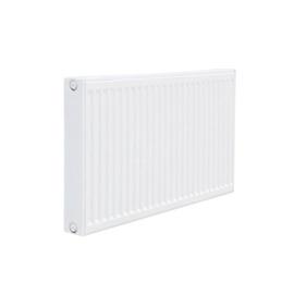 Plieninis radiatorius su apatiniu pajungimu, laikikliais ir ventiliu, Sanica, 11PK 500 x 1200 mm.
