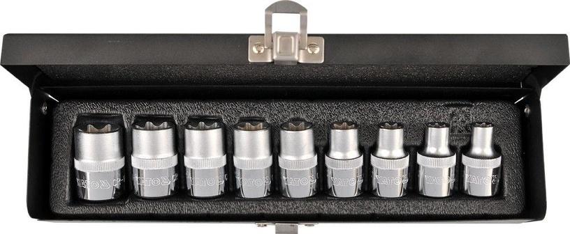 Yato TORX Socket Set 1/2'' E10-E24 9pcs