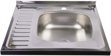 Diana Kitchen Sink Right Chrome 600x600mm