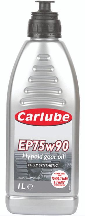 Масло для трансмиссии Carlube GL5 75W - 90, синтетический, для легкового автомобиля, 1 л