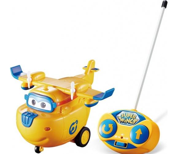 Žaislinis valdomas lėktuvas Superwings, geltonas