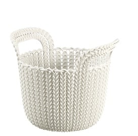 Curver Knit XS Round Basket White