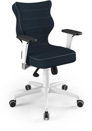 Entelo Perto White Office Chair TW24 Navy Blue