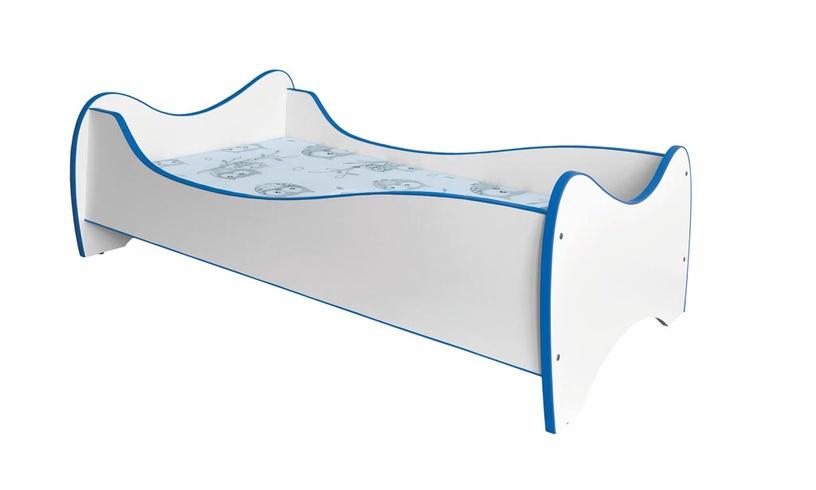 Bērnu gulta Halmar Duo Blue, 145x81 cm