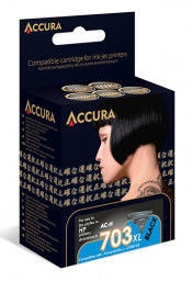 Accura Ink Cartridge HP No.704XL 17ml Black