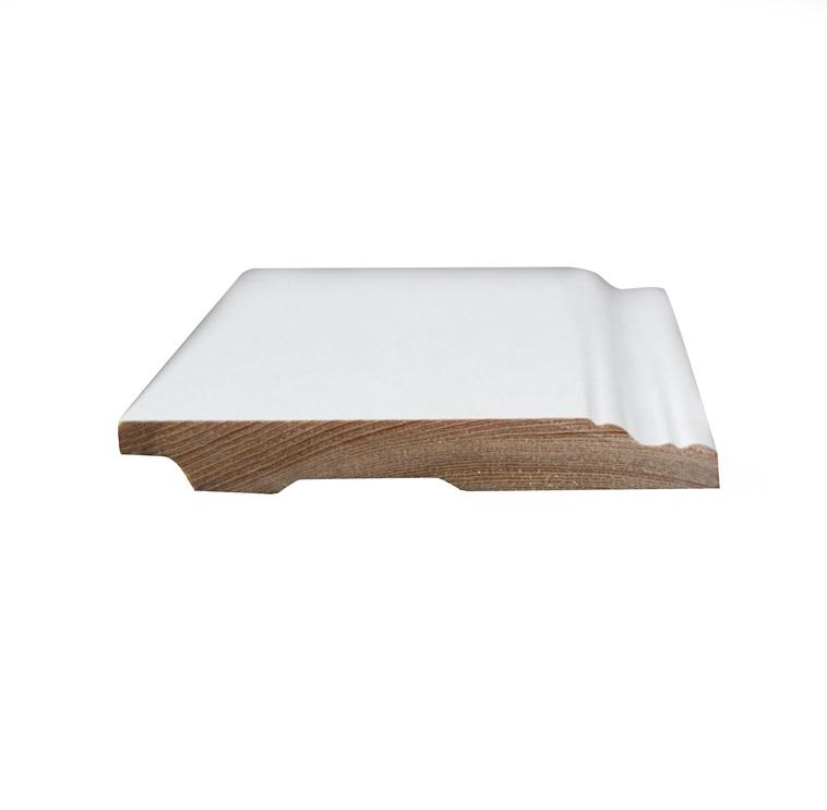 JM Grupa Wooden Skirting 2700x120x15mm White
