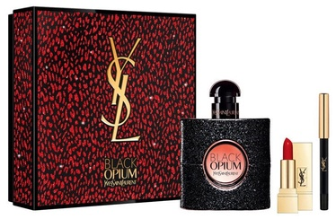 Духи Yves Saint Laurent Black Opium 50 мл EDP + Губная помада + Карандаш для глаз