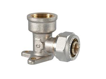 Tvirtinamoji užveržiama alkūnė, TDM Brass, 1/2 IN x 16 mm, su vidiniu sriegiu