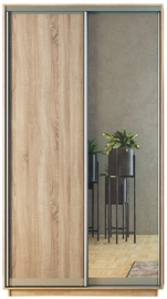Garant-NV Wardrobe w/ 2 Sliding Doors & 2 Drawers 160x240x60cm Sonoma Oak