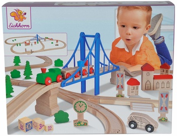 Eichhorn Train Playset With Bridge 100001264