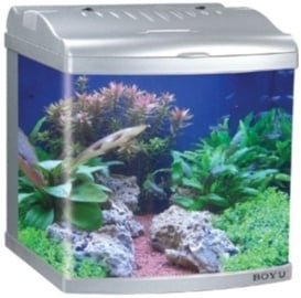 Boyu Mini Aquarium MT-402S Silver