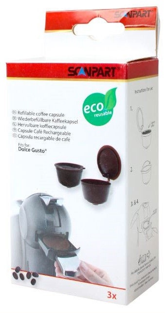 Scanpart Refillable Coffee Capsule For Dolce Gusto 3pcs
