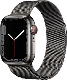 Nutikell Apple Watch Series 7 GPS + LTE 41mm Stainless Steel, must
