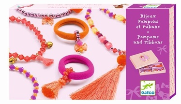 Djeco Charms Jewels And Ribbons Set
