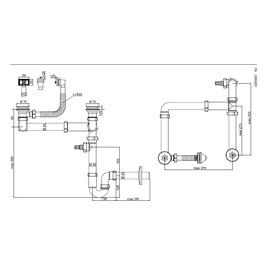 Sifonas dvigubai plautuvei Aniplast LD0505PL, 1 1/2 x 40