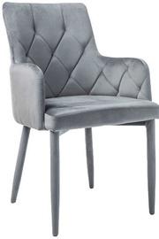 Ēdamistabas krēsls Signal Meble Ricardo Velvet Grey, 1 gab.