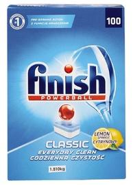 Trauku mazgājamās mašīnas kapsulas Finish Classic Lemon, 100 gab.