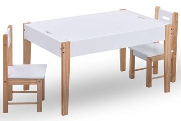 VidaXL Kids Storage Chalkboard Table Chair Set 286189 White
