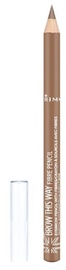 Antakių pieštukas Rimmel London Brow This Way Fibre Light Brown, 1.1 g