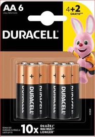 Elementai Duracell AA/LR06, 1,5 V, 4+2 vnt