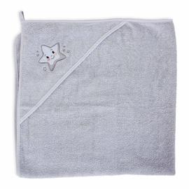 Ceba Baby Bath Towel Grey Star