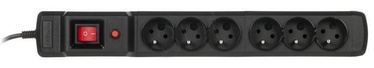 ActiveJet Surge Protector 6 Outlet Black 1.5m