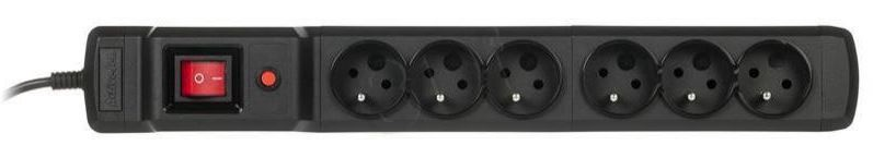 ActiveJet Surge Protector 6 Outlet Black 1.5m
