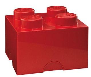 LEGO Storage Brick 4 Knobs Medium Red