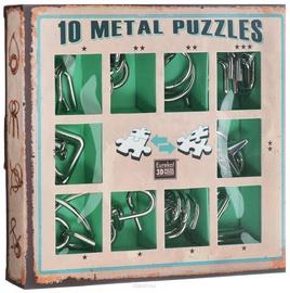 Stalo žaidimas Eureka! 10 Metal Puzzle Green