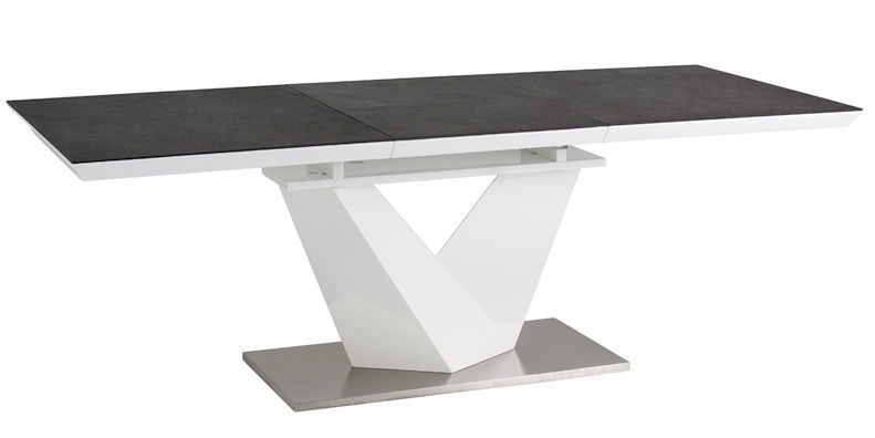 Coffee Table To Dining Table.Signal Meble Alaras Ii Dining Table Gray White