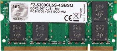 G.SKILL 4GB 667MHz CL5 DDR2 SO-DIMM F2-5300CL5S-4GBSQ