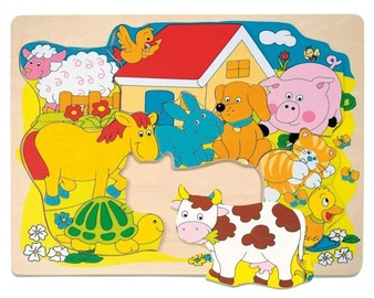 Woodyland Shape Puzzle Farm Animals 10pcs 90340