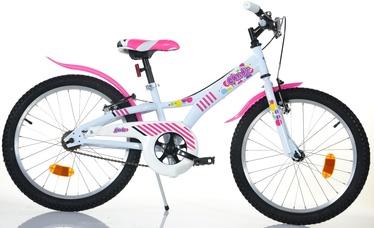 """Bērnu velosipēds Bottari Candy 77330, balta/rozā, 20"""""""
