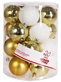 Giocoplast Natale Christmas Balls 8cm 20pcs White/Gold