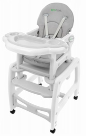 EcoToys Rocking Feeding Chair 3in1 Grey