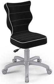 Детский стул Entelo Petit Size 3 JS01, черный/серый, 300 мм x 775 мм