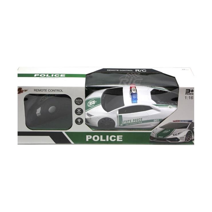 Žaislinė policijos mašina, valdoma radijo bangomis