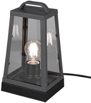 Trio Arkansas antracīta galda lampa, IP44, 1x E27, slēdzis