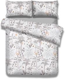 Gultas veļas komplekts AmeliaHome Basic, balta/pelēka, 200x200/80x80 cm