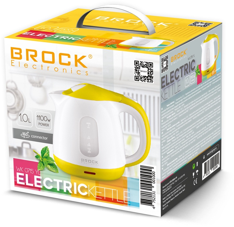 Elektriline veekeetja Brock 0715 YL, 0.9 l