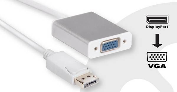 Club 3D DisplayPort To VGA Active Adapter 0.25m White